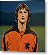 Johan Cruyff Oranje Metal Print