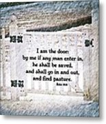 John 10 9 Metal Print