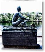 John B Kelly Statue Philadelphia Metal Print by Bill Cannon
