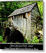 John Cable Grist Mill - Poster Metal Print