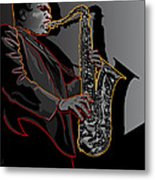 John Coltrane Jazz Saxophone Legend Metal Print