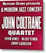 John Coltrane Quartet In Sweden Metal Print