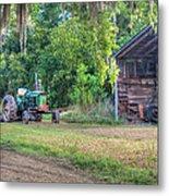 John Deere - Old Tractor Shed Metal Print