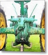 John Deere Tractor Metal Print