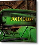 John Deere Tractor Metal Print by Susan Candelario
