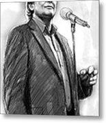 John Farnham Art Drawing Sketch Portrait Metal Print