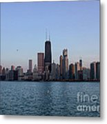 John Hancock Building And Chicago Il Skyline Metal Print