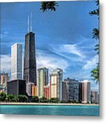 John Hancock Chicago Skyline Panorama Metal Print