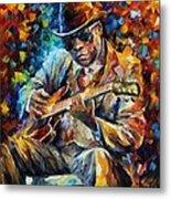 John Lee Hooker - Palette Knife Oil Painting On Canvas By Leonid Afremov Metal Print