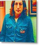 John Lennon 1975 Metal Print