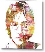 John Lennon Metal Print by Mike Maher