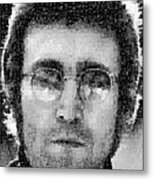 John Lennon Mosaic Image 16 Metal Print