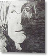 John Lennon Pencil Metal Print by Jimi Bush