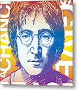 John Lennon Pop Art Metal Print by Jim Zahniser