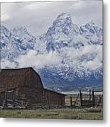 John Moulton Barn Grand Teton National Park Wyoming Metal Print