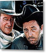 John Wayne And Robert Mitchum El Dorado 1967 Publicity Photo Old Tucson Arizona 1967-2012 Metal Print
