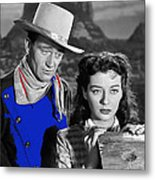 John Wayne Gail Russell Angel And The Badman  Publicity Photo 1947-2012 Metal Print