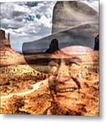 John Wayne Monument Valley Metal Print by Lester Phipps