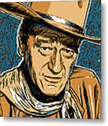 John Wayne Pop Art Metal Print
