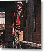 John Wayne Porch Of His Sheriff's Office Rio Bravo  Old Tucson Arizona 1959-2013 Metal Print