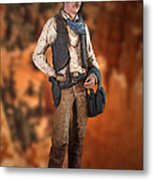 John Wayne The Cowboy Metal Print
