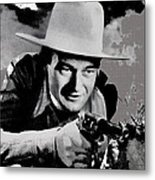 John Wayne Two-fisted Law  1932 Publicity Photo Metal Print