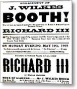 John Wilkes Booth Playbill Metal Print