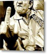 Johnny Cash Artwork 2 Metal Print