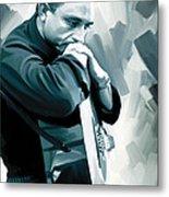 Johnny Cash Artwork 3 Metal Print