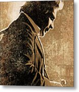 Johnny Cash Artwork Metal Print