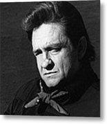 Johnny Cash Close-up The Man Comes Around Music Homage Old Tucson Az  Metal Print