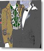 Johnny Cash  Elvis Presley Backstage Memphis Tn  Photographer Unknown  Metal Print