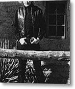 Johnny Cash Gunslinger Hitching Post Old Tucson Arizona 1971  Metal Print