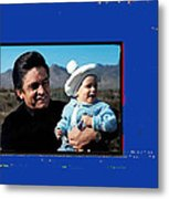 Johnny Cash John Carter Cash Old Tucson Arizona 1971 Metal Print
