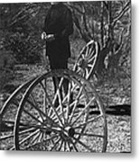 Johnny Cash  Meditating Wagon Wheel Graveyard Old Tucson Arizona 1971 Metal Print