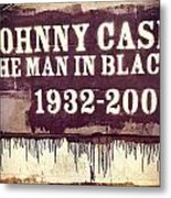 Johnny Cash Memorial Metal Print