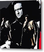 Johnny Cash Multiples  Trench Coat Sitting Collage 1971-2008 Metal Print