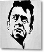 Johnny Cash Poster Art Portrait Metal Print