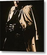 Johnny Cash Trench Coat  Sepia Variation Old Tucson Arizona 1971 Metal Print