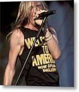 Johnny Crash Metal Print