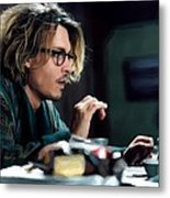 Johnny Depp as Mort Rainey @ Secret Window Metal Print