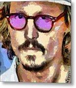 Johnny Depp Actor Metal Print