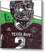 Johnny Manziel 6 Metal Print by Jeremiah Colley