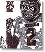 Johnny Manziel 9 Metal Print by Jeremiah Colley