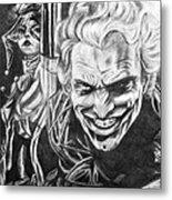Joker And Harley Quinn  Metal Print
