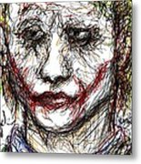 Joker - Interrogation Metal Print by Rachel Scott