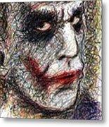Joker - Pout Metal Print by Rachel Scott