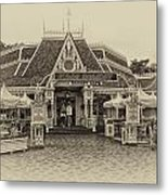 Jolly Holiday Cafe Main Street Disneyland Heirloom Metal Print