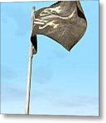 Jolly Roger Pirate Flag Far Metal Print