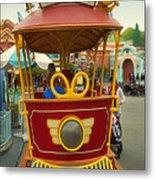 Jolly Trolley Disneyland Toon Town Metal Print